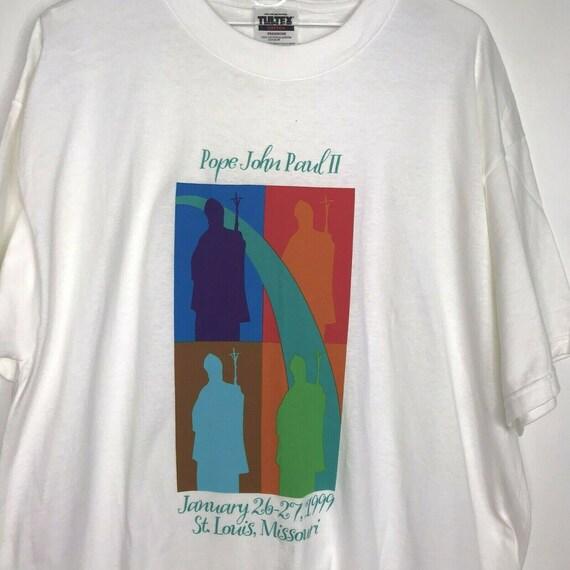 Vintage Pope John Paul ll T-Shirt Papal Visit 1999