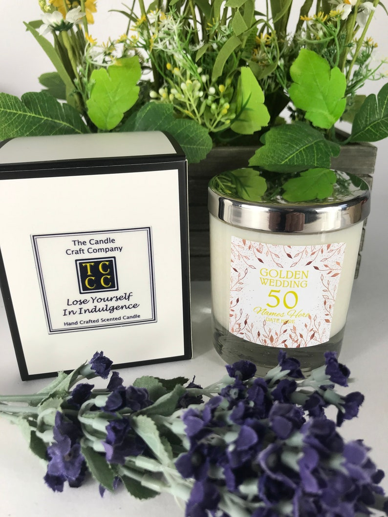 ?Personalised scented candle