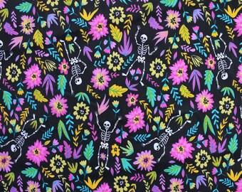 Halloween Polycotton Fabric - Skeleton Fabric -  Drop dead Gorgeous fabric