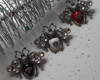 Flying Insect Brooch and jewellery pouch, 3 Colours