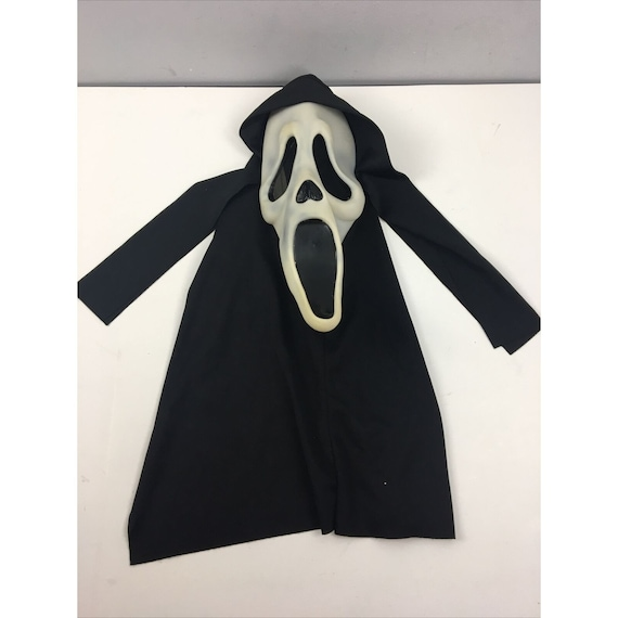Vtg Scream Mask Fun World Chin Stamp Halloween Dro