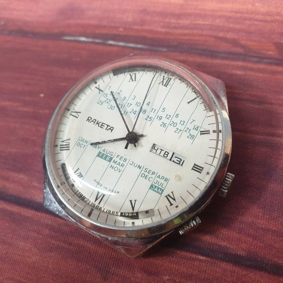 """Men's vintage wristwatch """"Rocket"""" College. Soviet"""