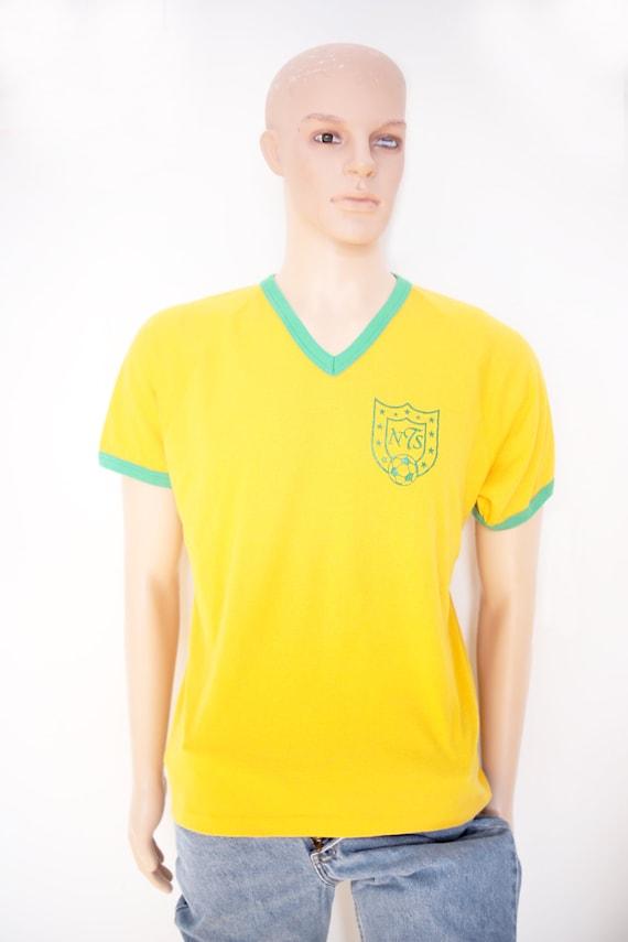 1970s Vintage - Numbered Soccer V-Neck Tee