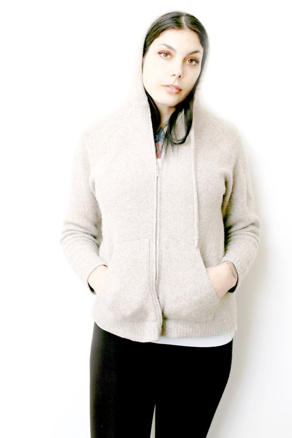 1980s Vintage - LL Bean Lambswool Hooded Sweater