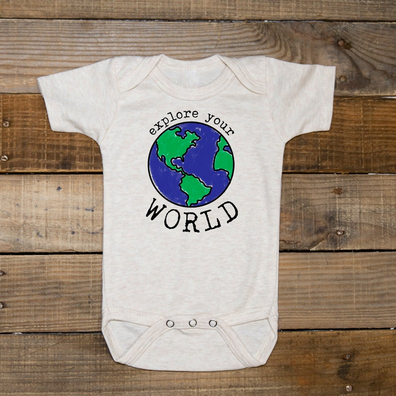 Planet shirt Space body suit for girl Space outfit for boy Explore your world body suit Unisex space bodysuit Space theme clothing