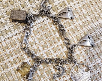 The Baby Boy  Collection 8 different antique silver tone charms