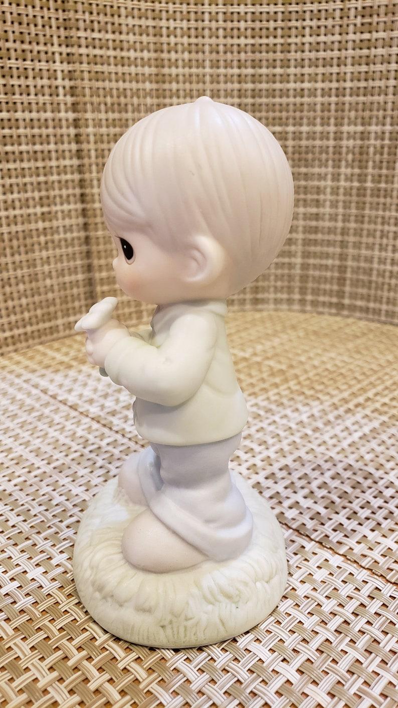 Retired Figurine Vintage Precious Moments Porcelain Figurine Mommy I Love You boy