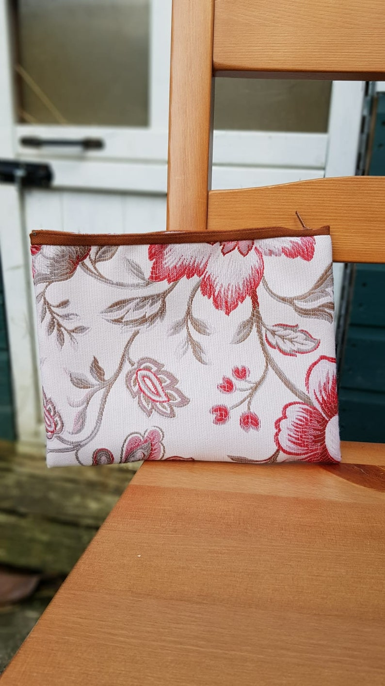 Handmade zip purse
