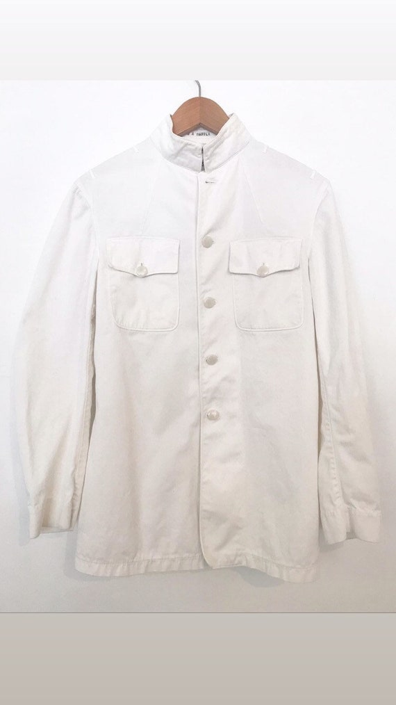 1940s cotton medical jacket