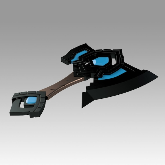 World Of Warcraft Shadowlands Axe Bastion Cosplay weapon prop digital model for 3d print