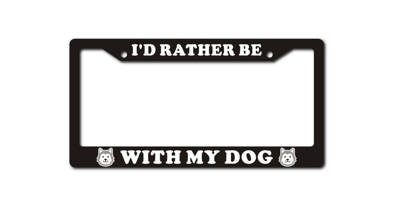 Dog License Plate Frame Accessory Universal for Cars