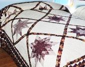 CUSTOM ORDER Amish Made Quilt Blazing Star
