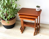 Mid-Century Danish Nesting Tables Vintage Nest of Tables