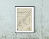 1912 Old Map of New York Queens Vintage Fine Art Reproduction Ready to Frame