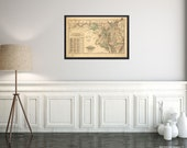 Map from 1876 New railroad of the state of Maryland, Delaware, and the District of Columbia Old Map Reprint Ready To Frame