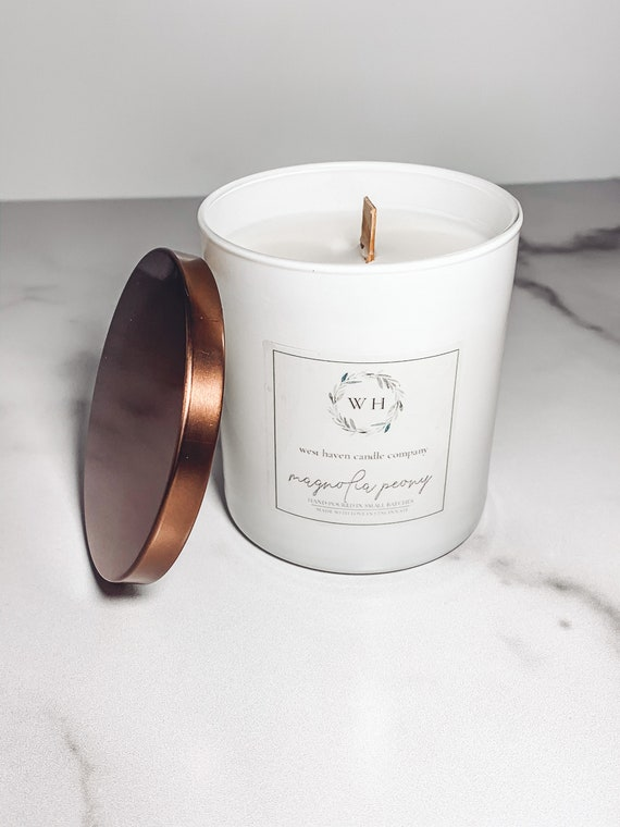 Magnolia Peony Candle | Coconut Soy Wax | Wood Wick
