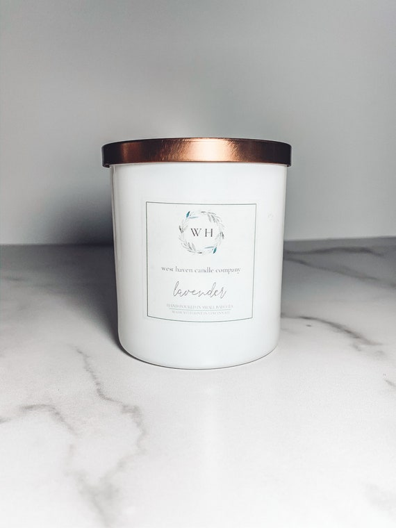 Lavender Scented Candle | Coconut Soy Wax | Wood Wick
