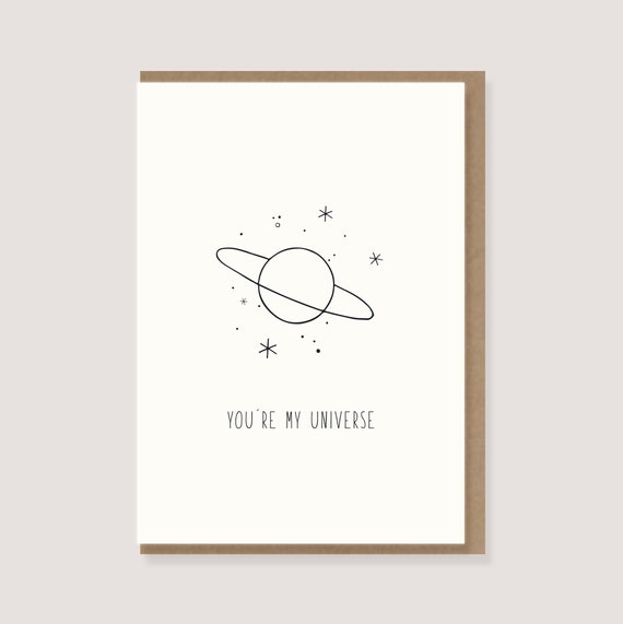 You Are My Universe Card Printable Love Card for Him