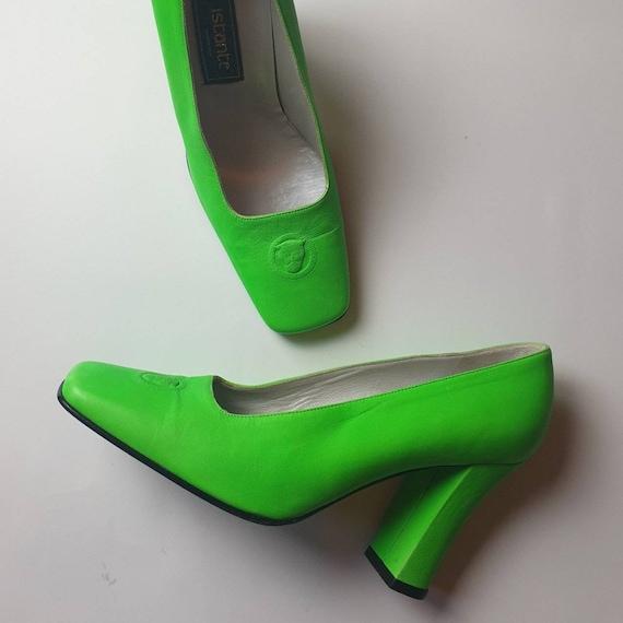 RARE Versace Neon Green Heels UK Size 3.5