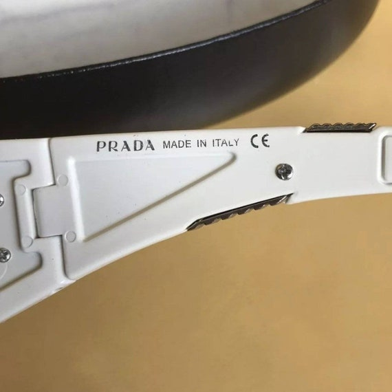PRADA Rimless Shield Sunglasses - image 4