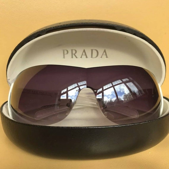 PRADA Rimless Shield Sunglasses - image 1
