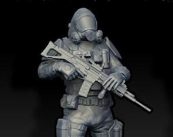 Hazard Suit Soldier (standing)