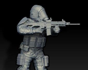 Hazard Suit Soldier (shooting)