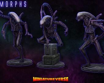 ALIEN Xenomorph Miniatures (STL Files)