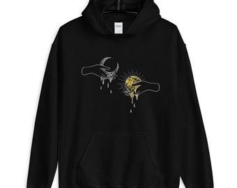Mens Sun and Moon Crewneck Sweatshirt-Unisex