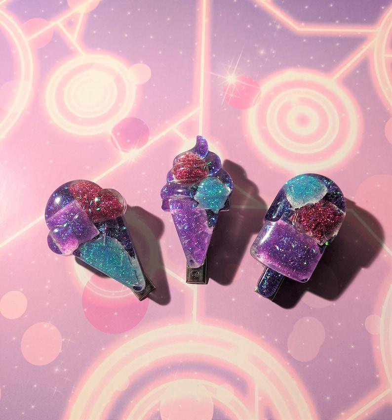 Bi Pride Ice Cream Hairclip Set