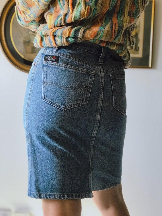 FIORRUCI Original Vintage 80s Denim Skirt