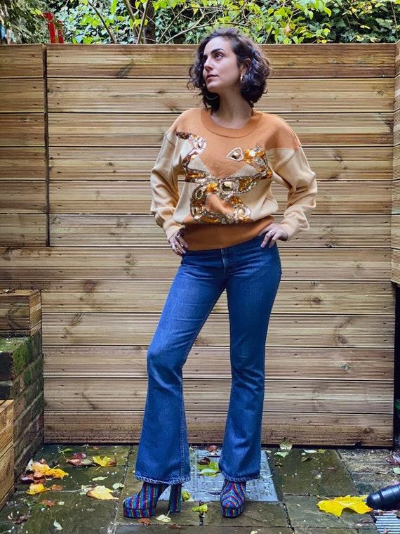 70s Vintage Orange Tab LEVI's Bootcut Jeans