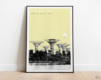 Singapore Travel Poster