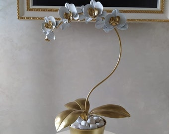 25th Wedding Anniversary Gift Stainless Steel Orchid Metal Flower