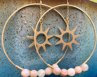 Sunstone & Sun Hoops