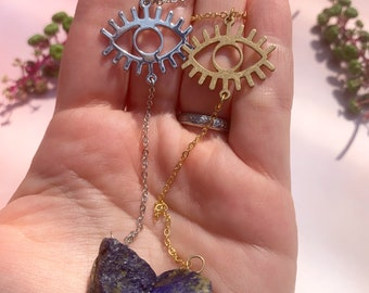 Lapis Lazuli Pendulum Necklace