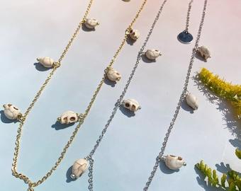 Tiny Skull Choker Necklace