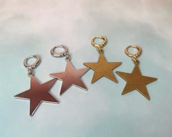 Star Huggie Hoops