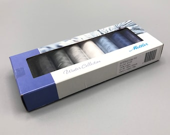 Mettler #SFC8 Winter Kit, (8) Silk Finish 100% Cotton Thread, 150m, 174 yds.