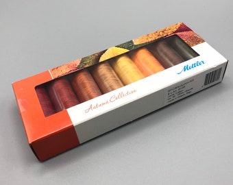 Mettler #SFC8 Autumn Kit, (8) Silk Finish 100% Cotton Thread, 150m, 174 yds.