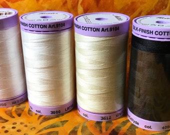 Mettler 50 Silk Finish 100% Cotton Thread, 547 yards; #9104