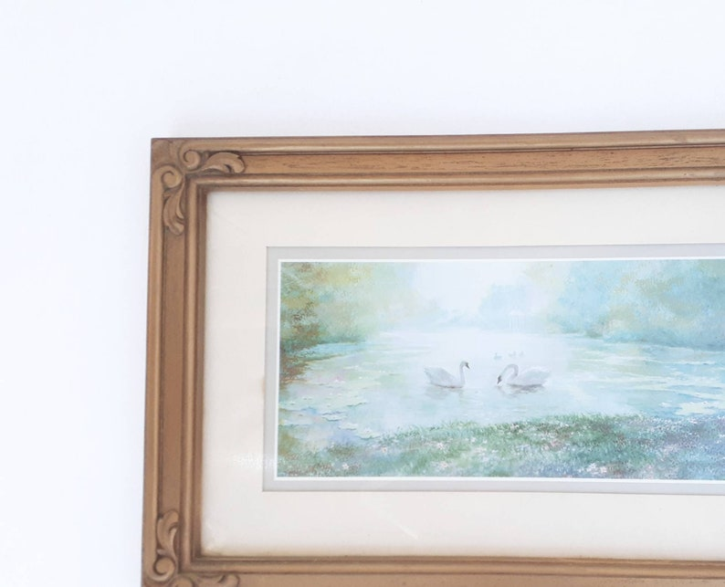 Vintage Swan Vintage Swan Wall Art Gold Ornate Frame
