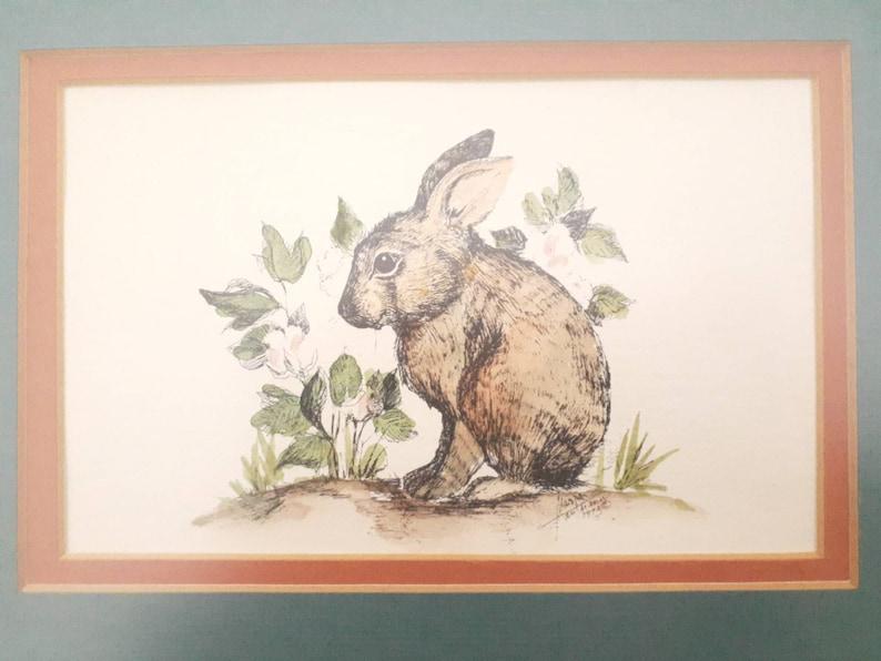 Vintage Bunny Wall Art Cottage Wall Decor
