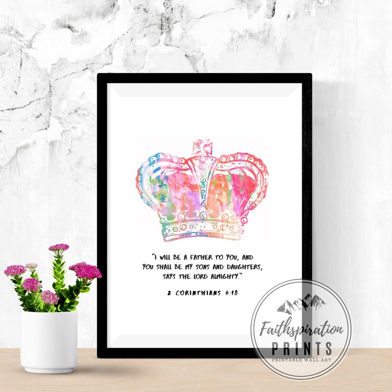 Sons and Daughters  Bible Verse Art  Christian Wall Art  image 0