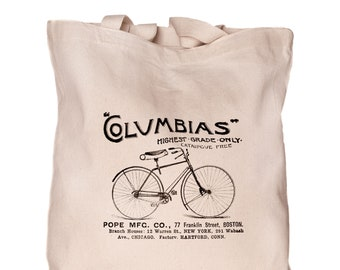 Bicycle Tote bag Bicycle themed Reusable bag Eco market tote Christmas gift Foldable bag Free face mask Gift for her Bicycle lover gift
