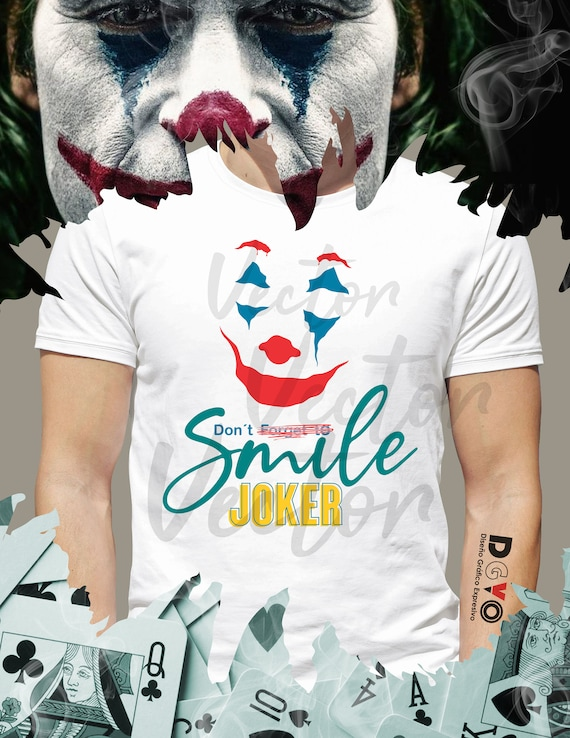 Joker Dont Forget To Smile Cdr Jpeg Pdf Png Svg To Web Etsy