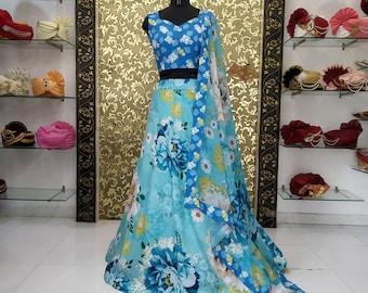 Designer New Indian Lehenga Choli Ethnic Party Evening Wedding Wear Dress Fancy Top Lehenga Set For Women