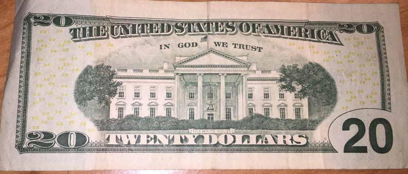 Twenty Dollar Bill Serial Number Ends With A Star