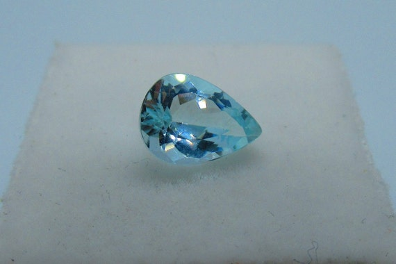 AQUAMARINE 9X6 MM PEAR CUT OUTSTANDING BLUE COLOR ALL NATURAL