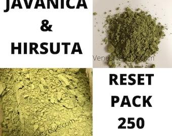 Mitragyna Hirsuta and Javanica Reset Pack Organic Powder  250 Grams - 125 grams Daytime & 125 grams Nighttime